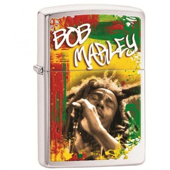 Briquet Zippo Bob Marley au micro