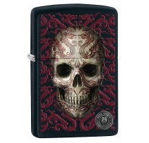 Zippo noir collection ANNE STOKES Purple Skull