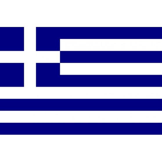 Drapeau Grèce 150x90 avec ourlet manche