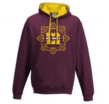Sweat shirt capuche DUB INC Bordeaux SO WHAT