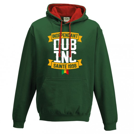Sweat shirt capuche DUB INC VERT SAINTE INDEPENDANT