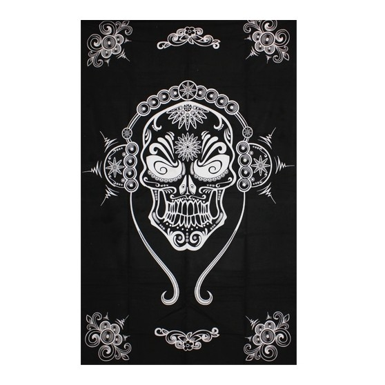 Tenture Mexican Skull 140x220