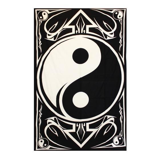 Tenture Ying Yang Coton 140x220cm