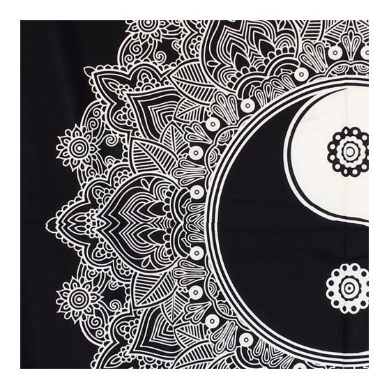 Teinture Ying Yang Lotus noir et blanc