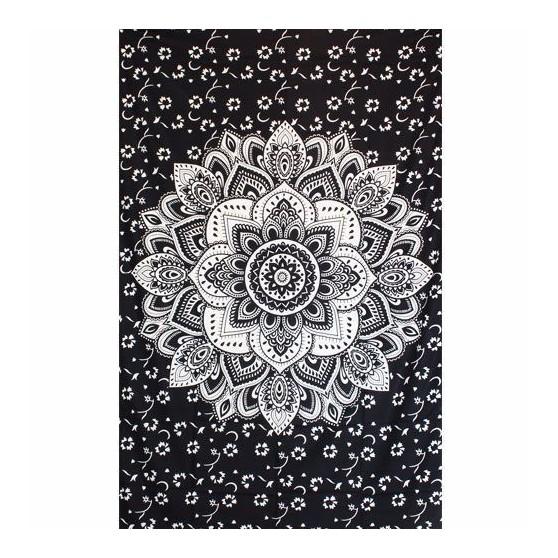 Tenture Lotus Noir 140X220cm