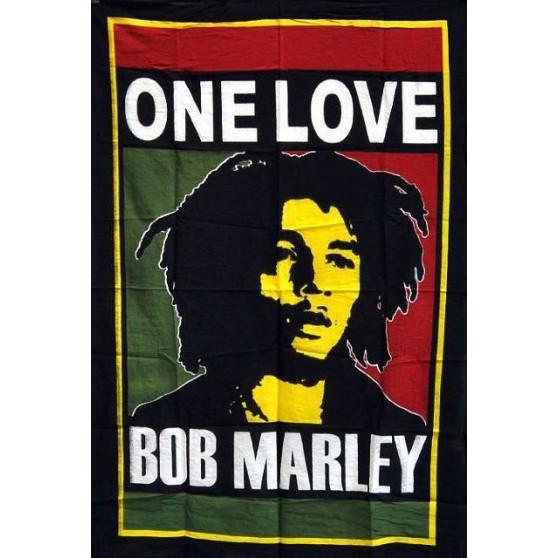 Tenture Bob Marley ONE LOVE 75X110cm