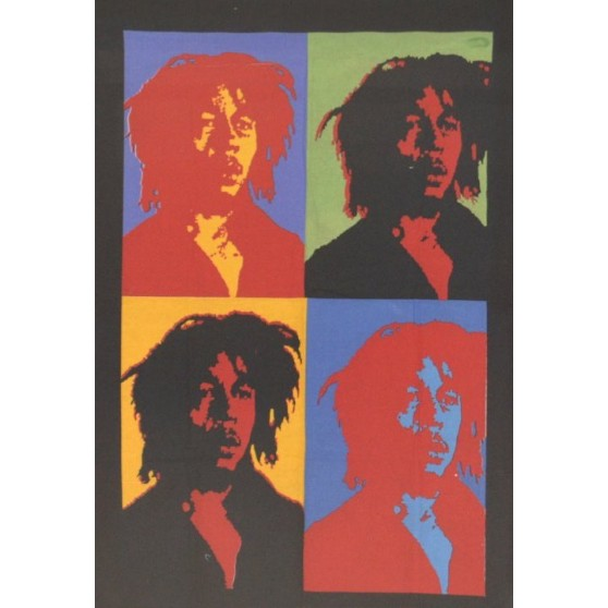 Tenture Bob Marley style Warhol 75X110cm