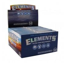 Boite Feuille Slim + Tips Elements (Papier De Riz - Non Traitées) X24