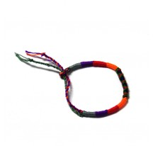 BRACELET TISSÉ GRS VIOLET ROUGE ORANGE