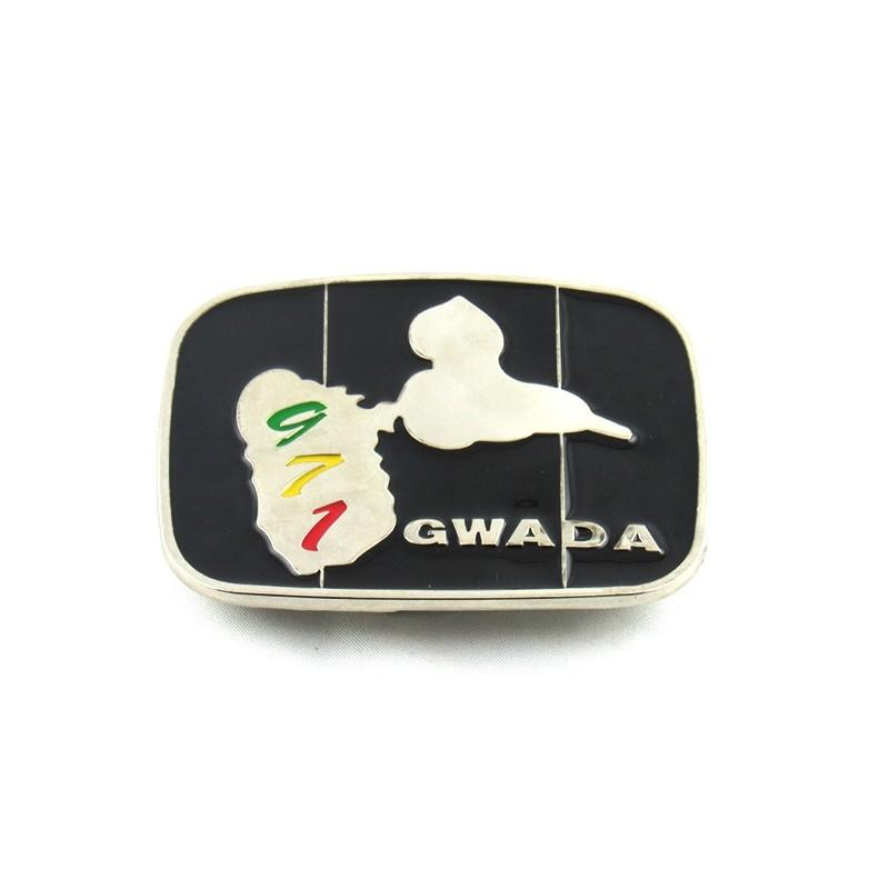 boucle de ceinture métal Gwada 971 black silver 07848d5cca7
