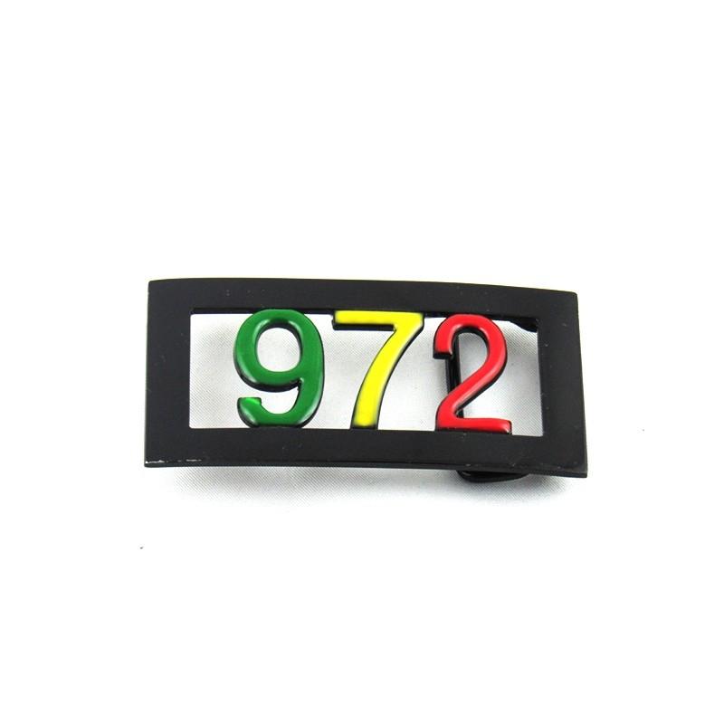 boucle de ceinture métal 972 vert jaune rouge 8d92e7eac80