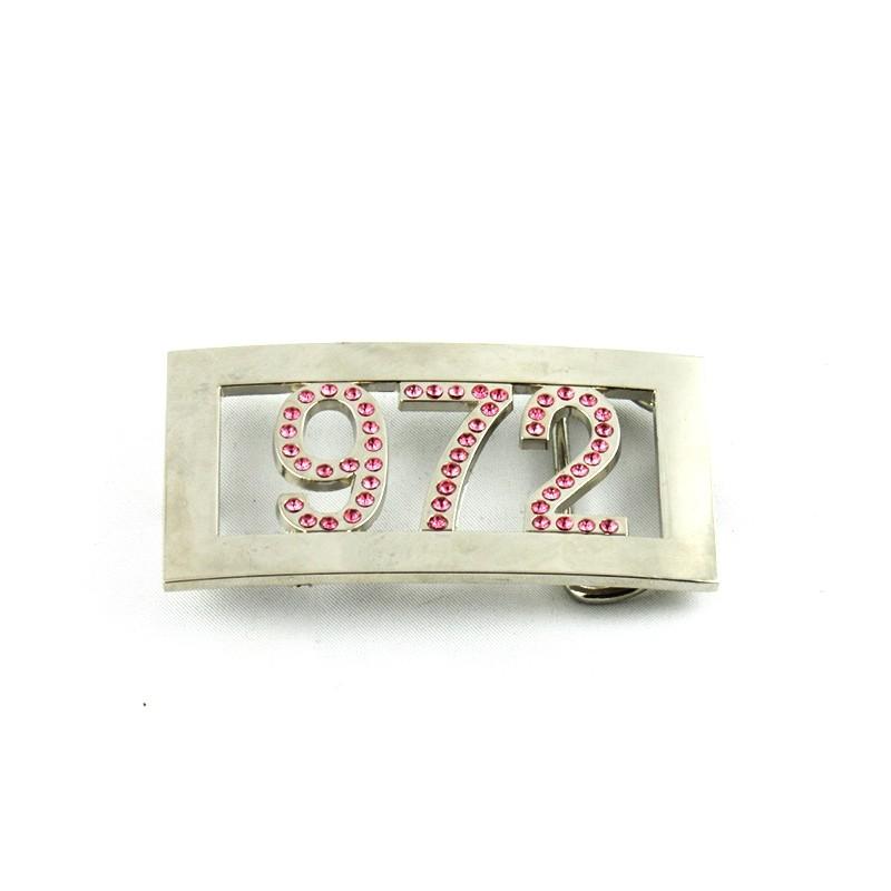 boucle de ceinture métal 972 strass rose be059edc103