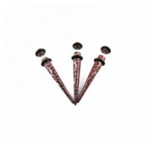 Piercing Faux Expander Serpent Marron