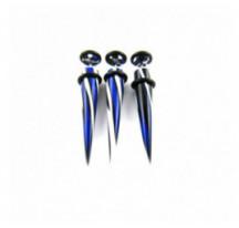 Piercing Faux Expander Bleu Et Blanc