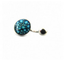 Piercing Nombril Ecaille Bleue