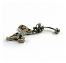 Piercing Nombril Pendentif Gwada Diamants Vjr