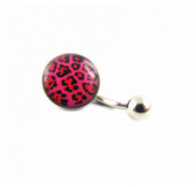Piercing Nombril Leopard Rose