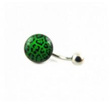 Piercing Nombril Leopard Vert