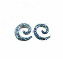 Piercing Spirale Ecaille Bleu