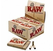 Raw Tips Natural Unrefined Pre Rolled Tips X20