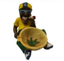 Cendrier Rasta Bonnet bleu jaune vert