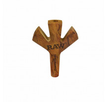 Raw Wooden Cigarette Holder Trident