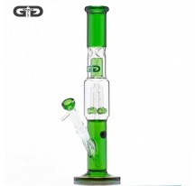 BANG VERRE GRACE GLASS DOUBLE BARREL AVEC PERCOLATEUR VERT