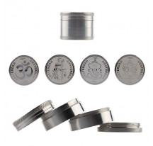 Grinder metal gris 4 parties 50mm