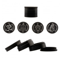 Grinder noir metal pollinator 50mm 4 parties