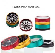 Grinder Grace Glass Rasta 4 parties 63mm