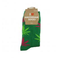 Chaussettes femmes couleur vert foncé