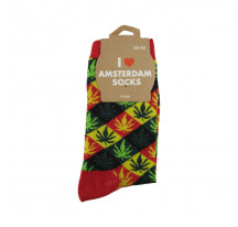 Chaussettes femmes rasta rouge