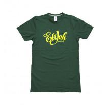 Tee shirt vert ELIJAH calligraphie