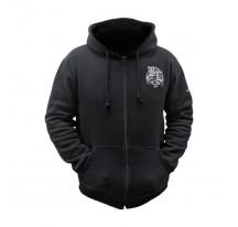 Veste capuche noire Black Leaf 420