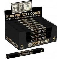 Cones pre-roulé billet 100$
