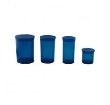 Boite acrylique bleu transparent 20/48/70/110ML