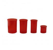 Boite acrylique rouge transparent 20/48/70/110ML
