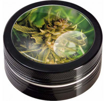 Grinder 2 parties BLACK LEAF Bud noir