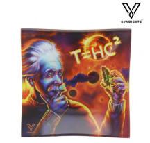 Cendrier Verre Carré Thc2 Black Hole
