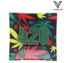 Cendrier Verre Carré 420 Rasta
