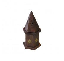 Porte encens cônes en bois
