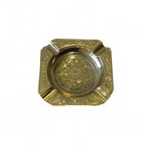 Cendrier indien laiton doré métal CARRE