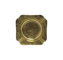 Cendrier indien laiton doré métal CARRE xl