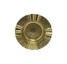 Cendrier indien laiton doré métal ROND DOUBLE CIGARETTE xl