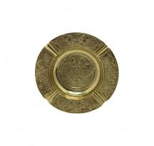 Cendrier indien laiton doré métal ROND FLEUR xl