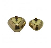 Cendrier indien laiton doré métal couvercle COEUR small