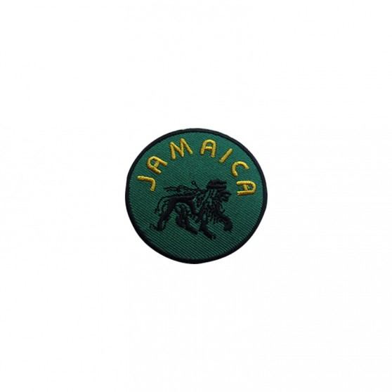 PATCH THERMOCOLLANT ROND VERT JAMAICA NOIR