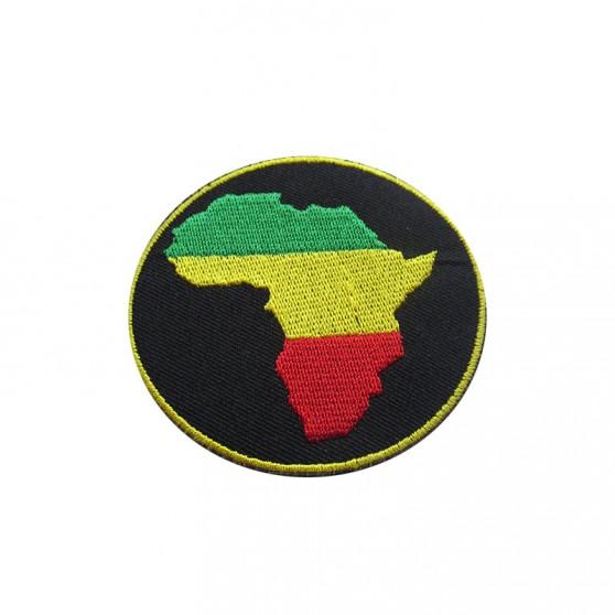 PATCH THERMOCOLLANT ROND NOIR AFRIQUE VJR