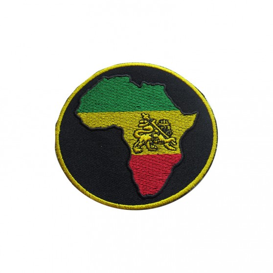 PATCH THERMOCOLLANT ROND NOIR AFRIQUE VJR+LION
