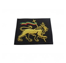 PATCH THERMOCOLLANT RECTANGLE LION OF JUDAH SUR FOND NOIR